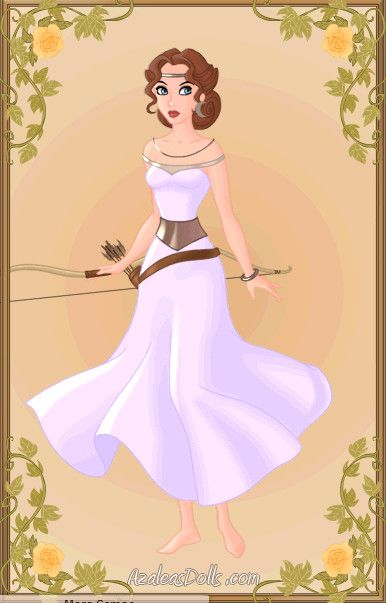 Becky I Love The Moon Earings And Dress Artemis Goddess Of