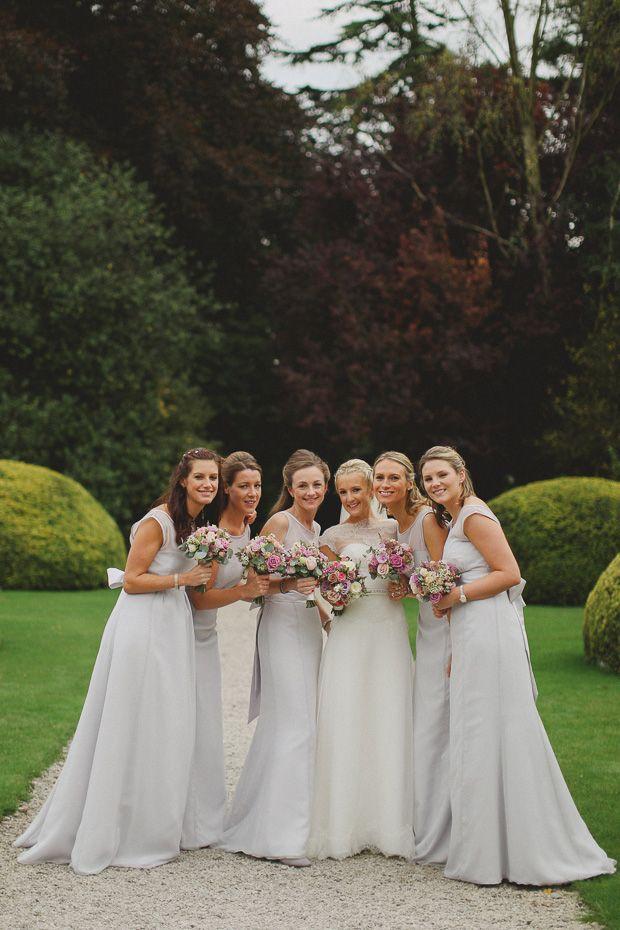 pale blue bridesmaids dresses   onefabday.com