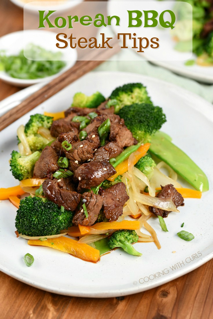 Korean BBQ Steak Tips #marinadeforbeef
