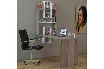 Bureau molto imitation bois clair et blanc storage bureaus