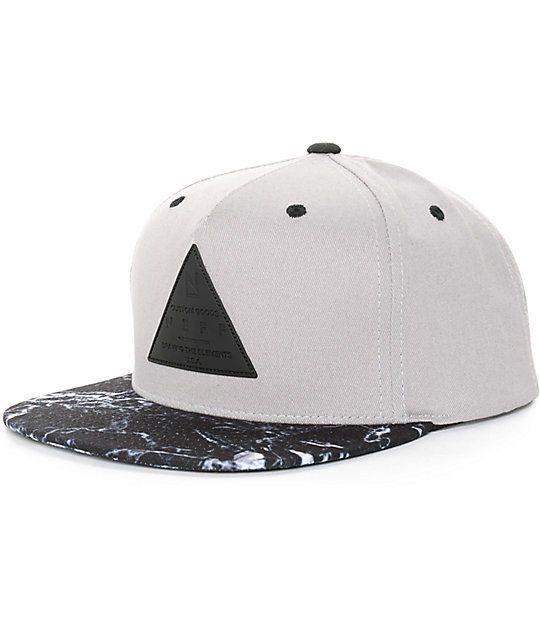 Neff X Cap Marble Snapback Hat   Zumiez
