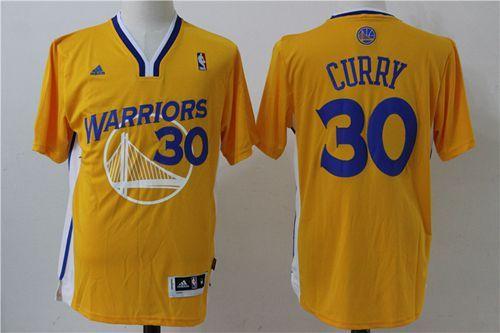 Mens Golden State Warriors  30 Stephen Curry Adidas Gold Alternate Swingman  Stitched NBA Jersey 7775aaeeb0cf