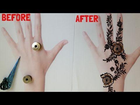 Arabic henna with sewing machine bobbin 2020