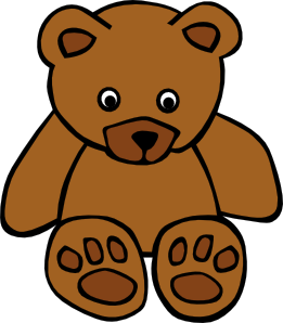 simple teddy bear clip art vector clip art online royalty free rh pinterest com clip art of gears and cogs clipart of bear and wolves