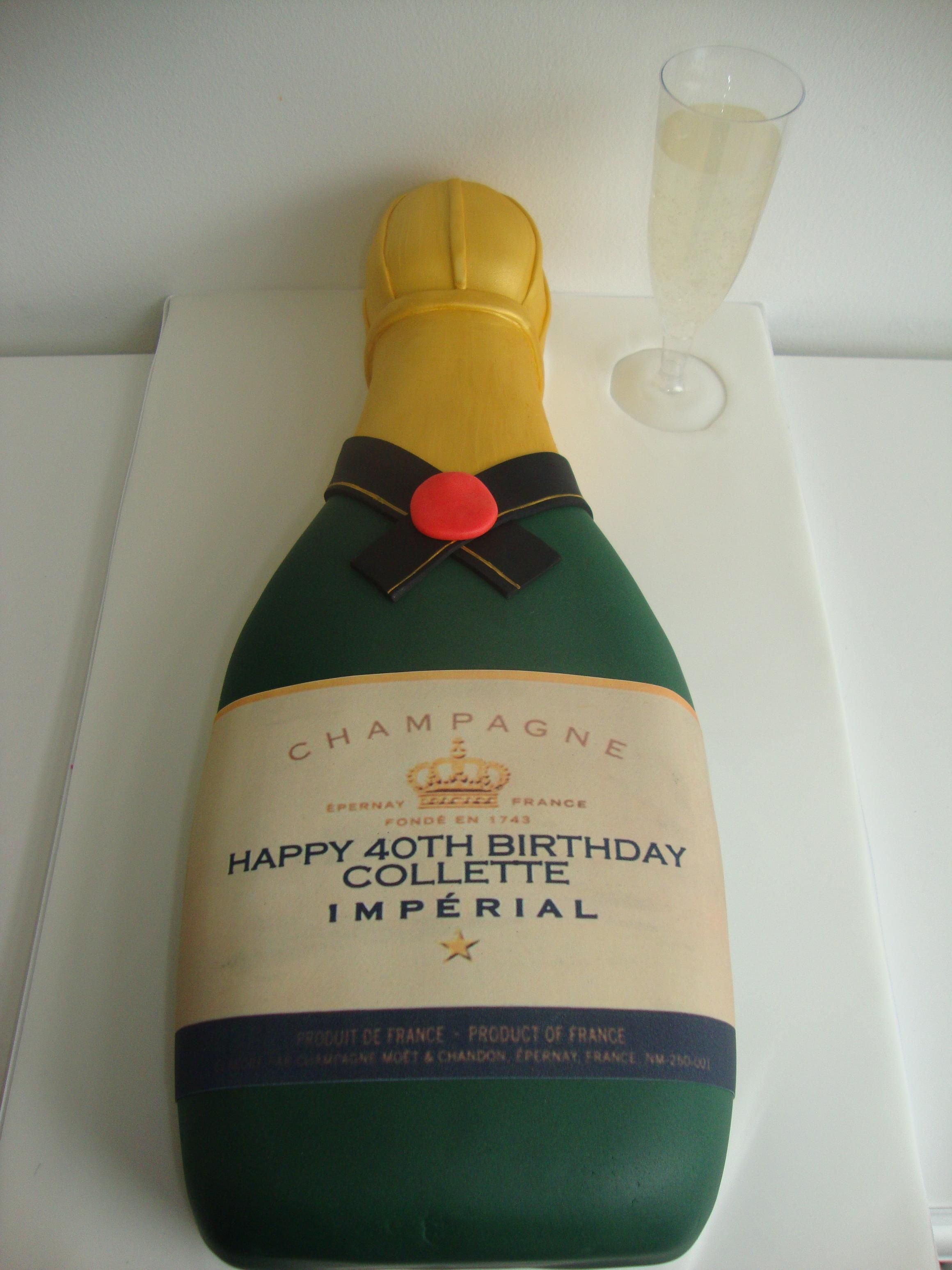 Champagne Bottle Cake Decorated Cakes Pinterest ...
