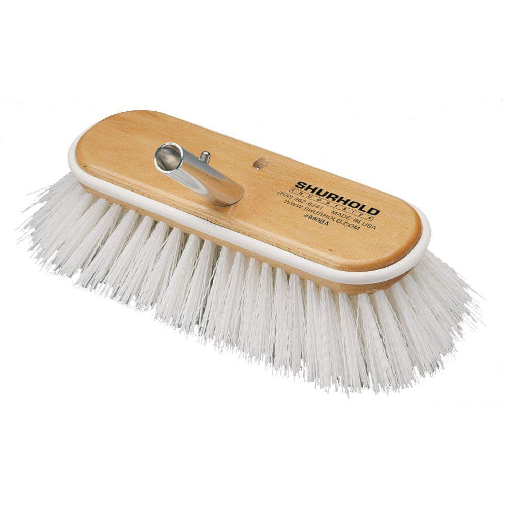 "Shurhold 10"" Polypropylene Stiff Bristle Deck Brush"