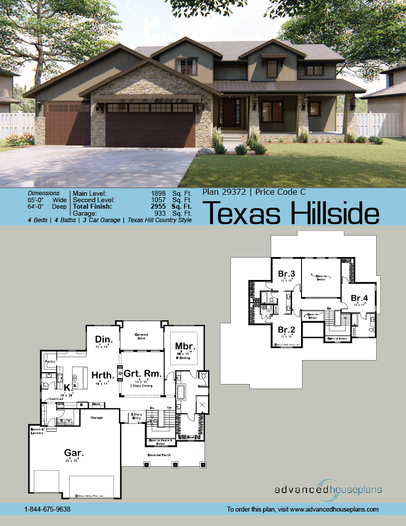 1 5 Story Craftsman Plan Texas Hillside Tuscan House Plans Tuscan House New House Plans