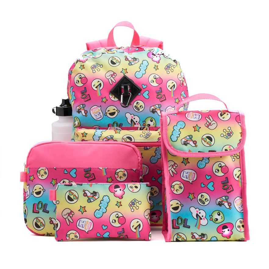 NEW Disney Licensed  Pink Minnie Mouse Lunch Bag Box with FREE Water Bottle