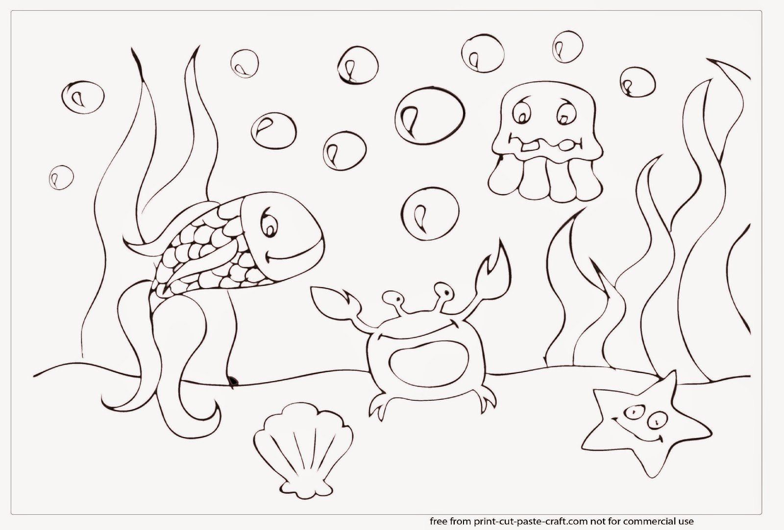 32 Under The Sea Coloring Page In