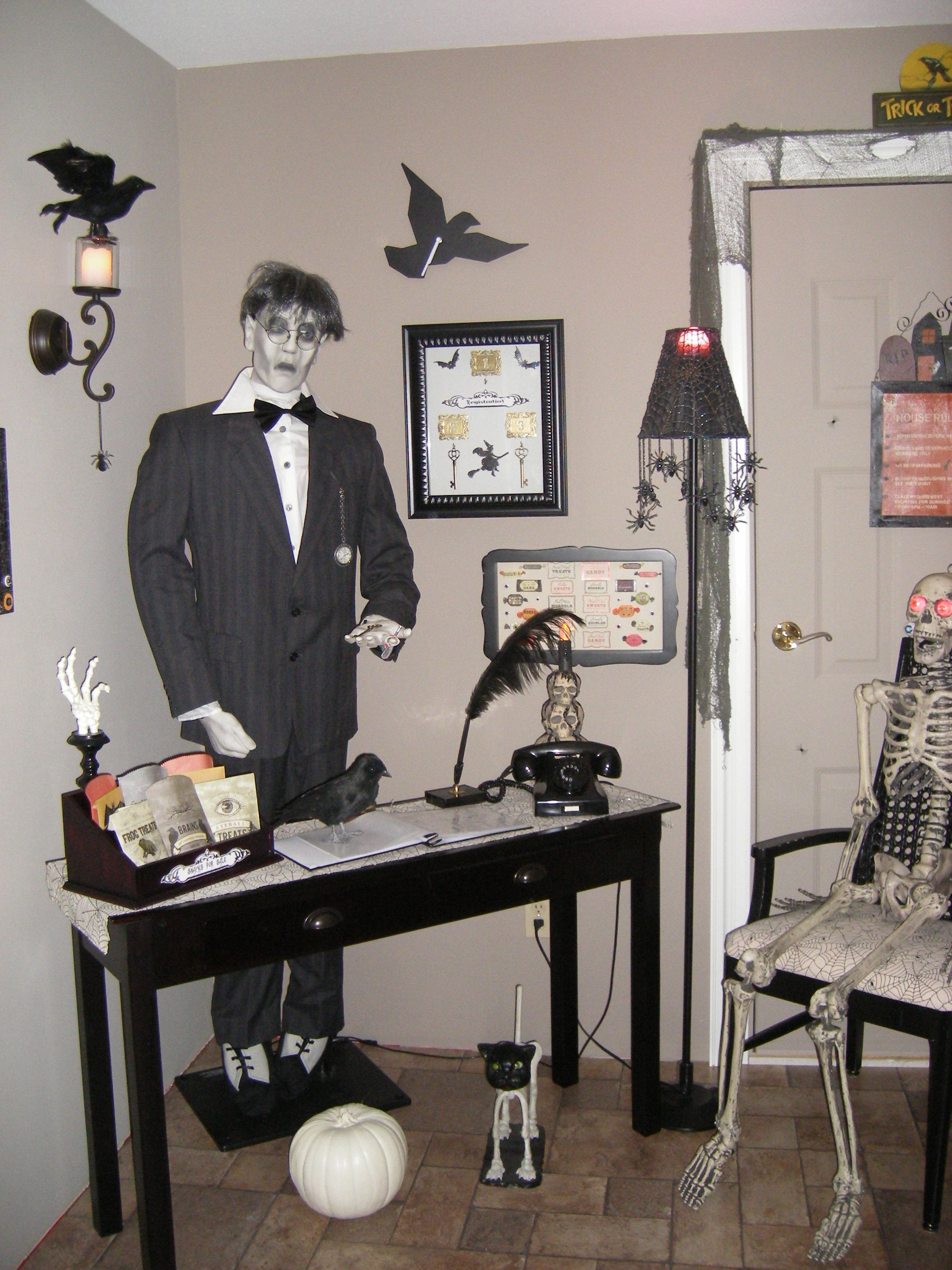 Front desk  please sign in  My Halloween Decorations