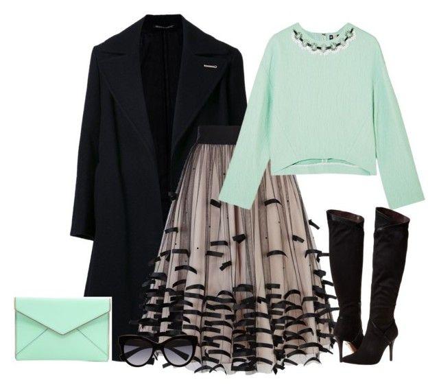 """outfit 1612"" by natalyag ❤ liked on Polyvore featuring Yohji Yamamoto, Coast, MSGM, Rebecca Minkoff, Report and Dolce&Gabbana"