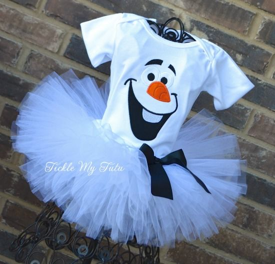 Olaf Tutu Outfit, Olaf Birthday Outfit, Frozen Inspired Birthday, Frozen Birthday Party, Olaf Costume #birthdayoutfit