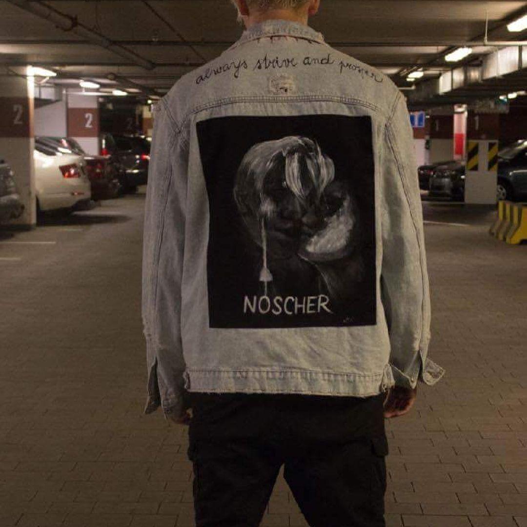 NOSCHER custom denim jacket 🖤🖌 #customsmichelle #dnesnosim #denimjacket #dnescestujem