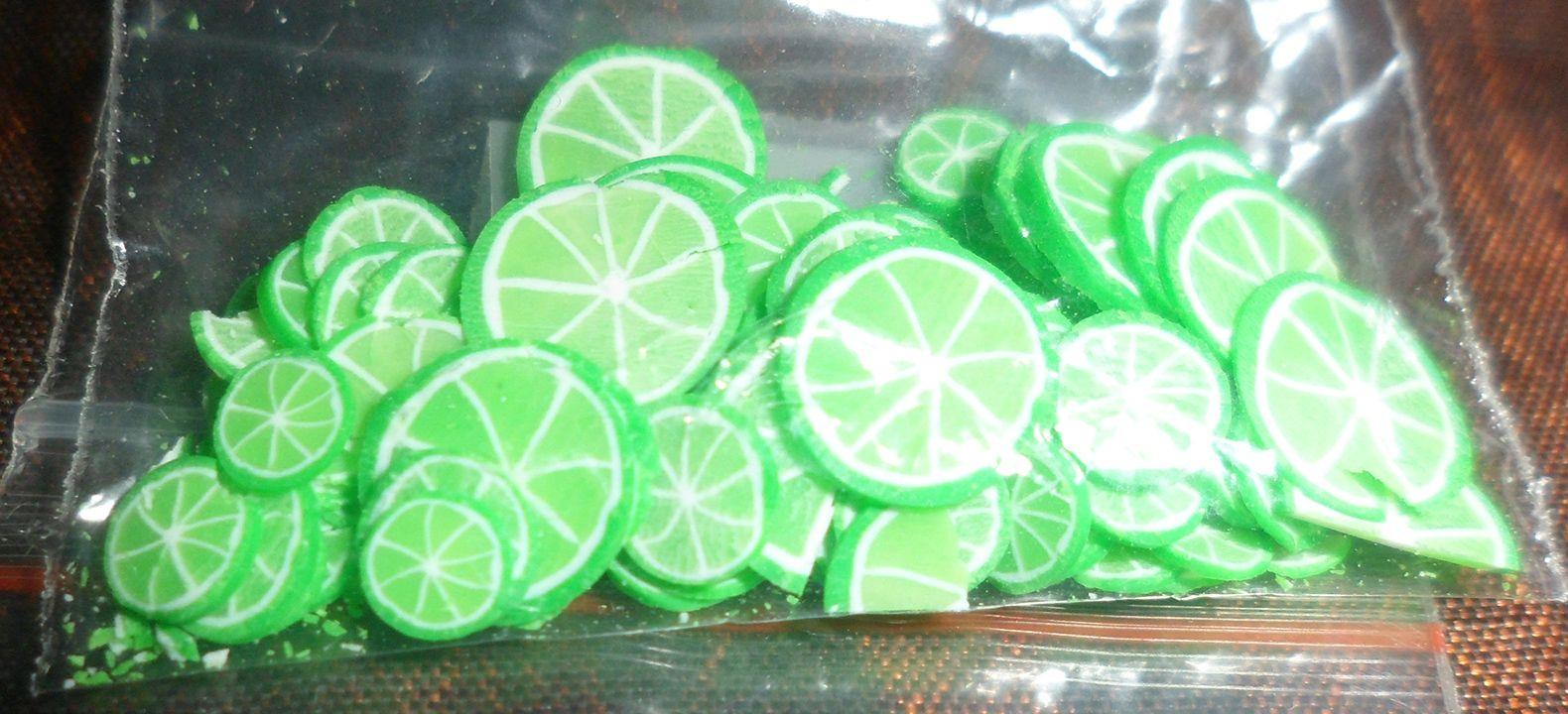 Green Lime handmade Fimo slices | My Nail Art Goodies! | Pinterest