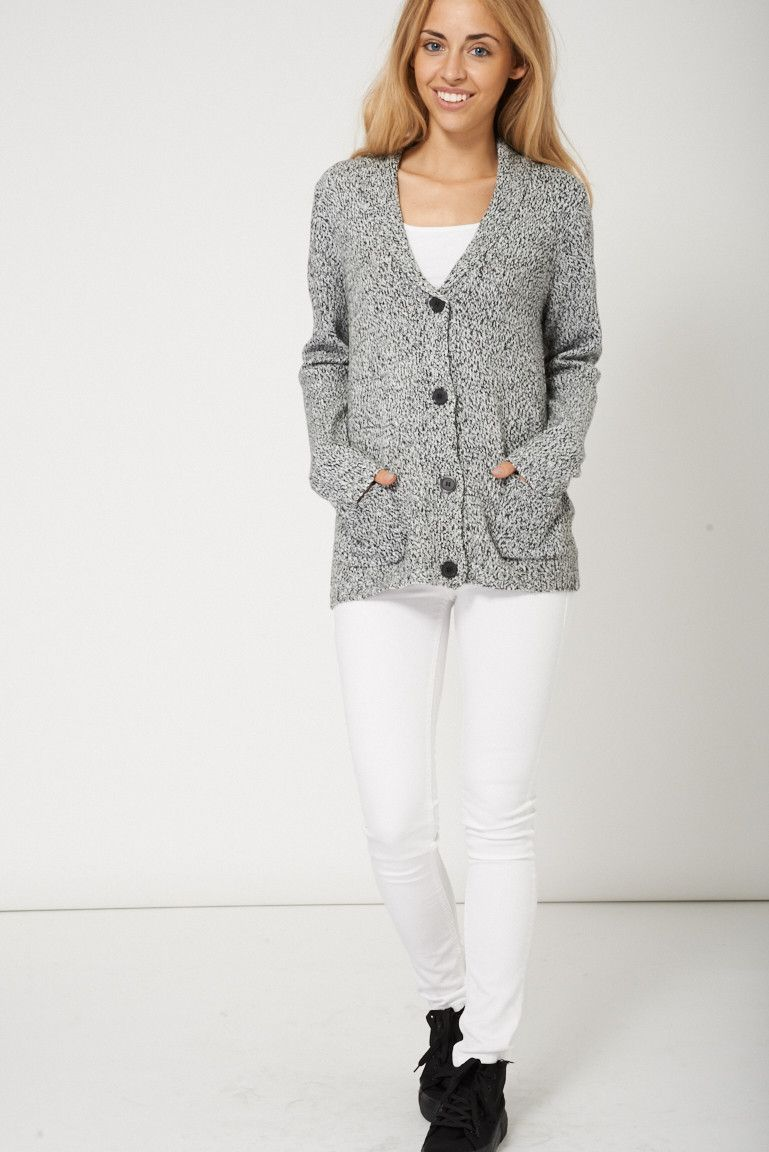 Winter Outfits Ladies Button Up Pocket Cardigan | Winter, Cold ...