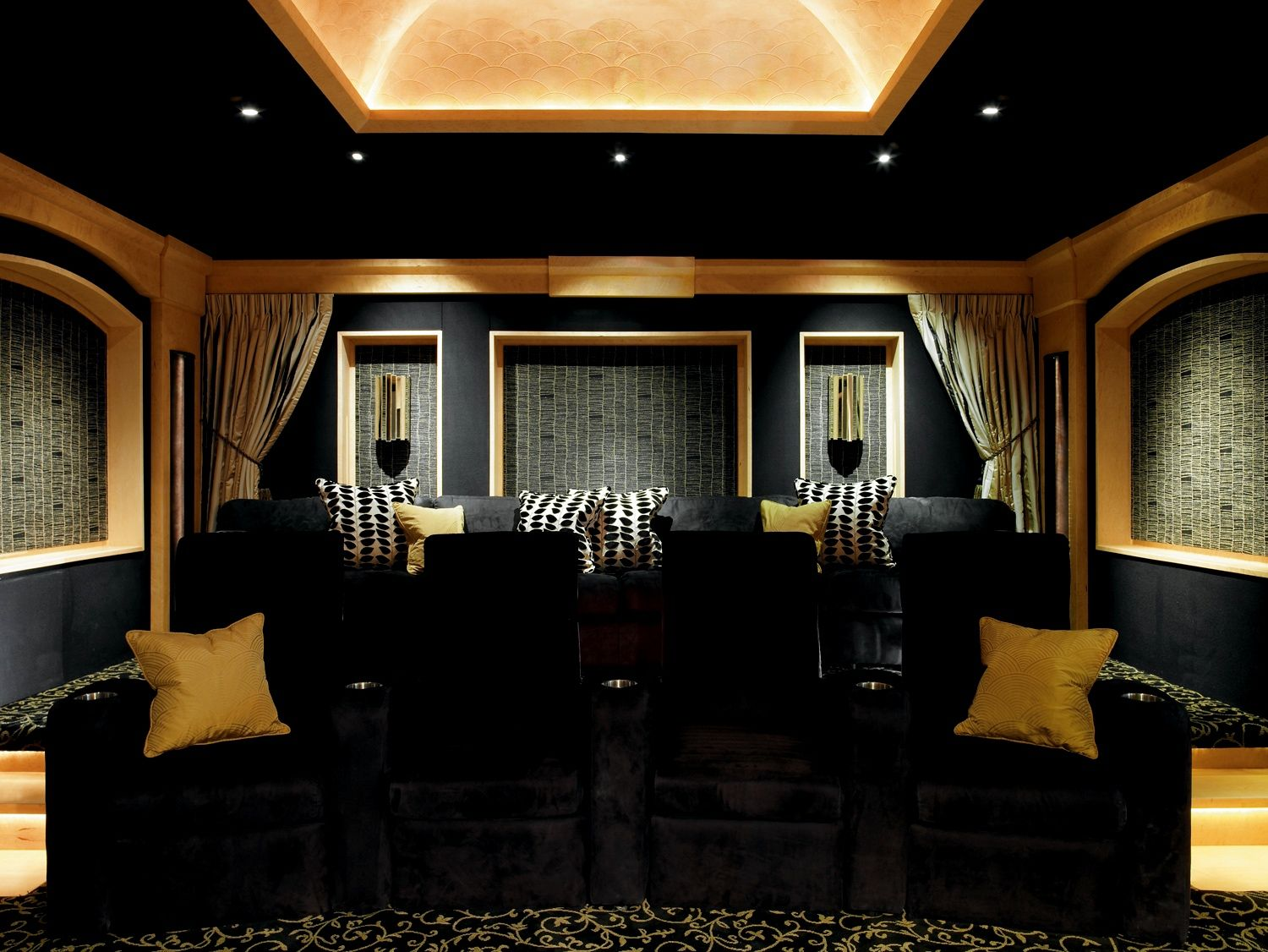 Bellaire theater room wired by design can create this for you