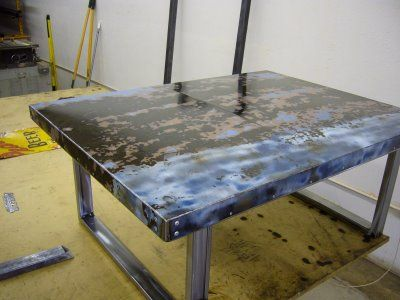 old car hood converted into awesome coffee table Products I Love