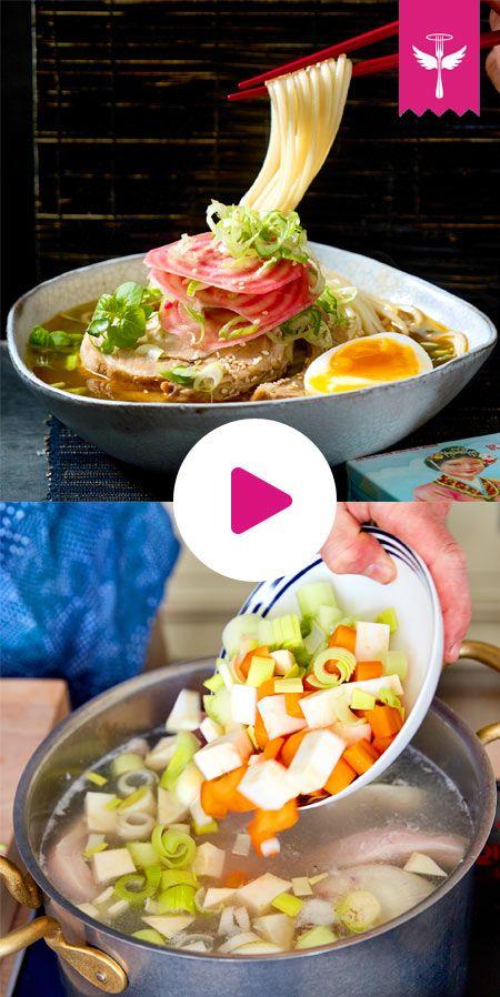 Ramen - das Rezept für japanische Nudelsuppe #ramensuppe