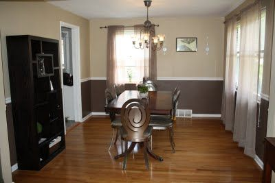 Love The Two Tone Wall With Chair Rail Home Two Tone