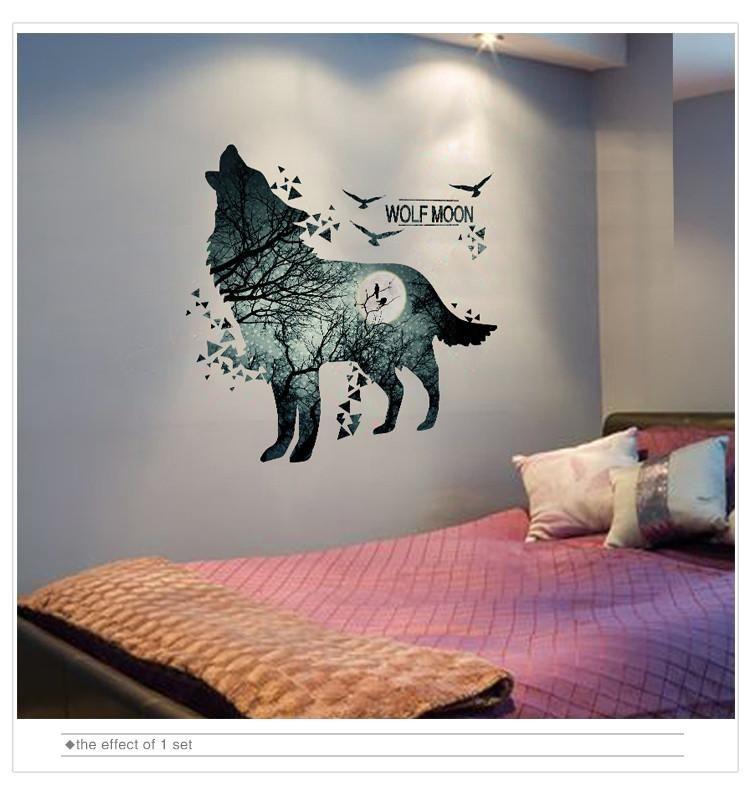 Pattern Plane Wall Sticker Style Europe Theme Animal