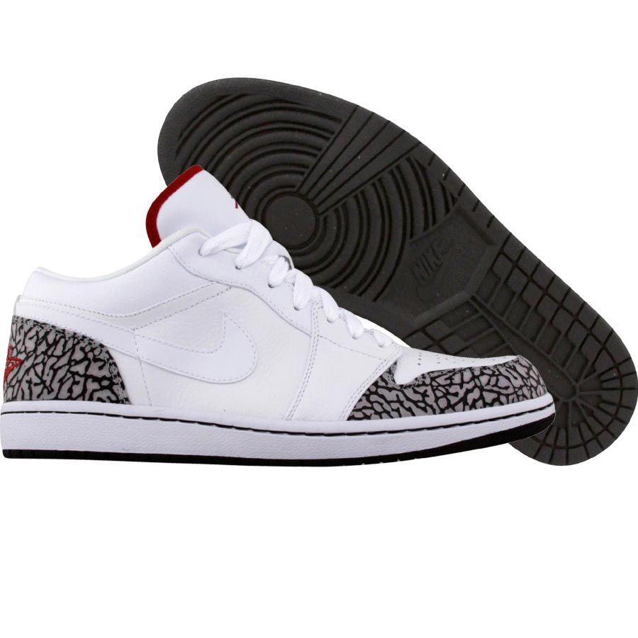Nike Air Jordan 1 Phat Low (white   varsity red   black   cement grey) 9319cdadd