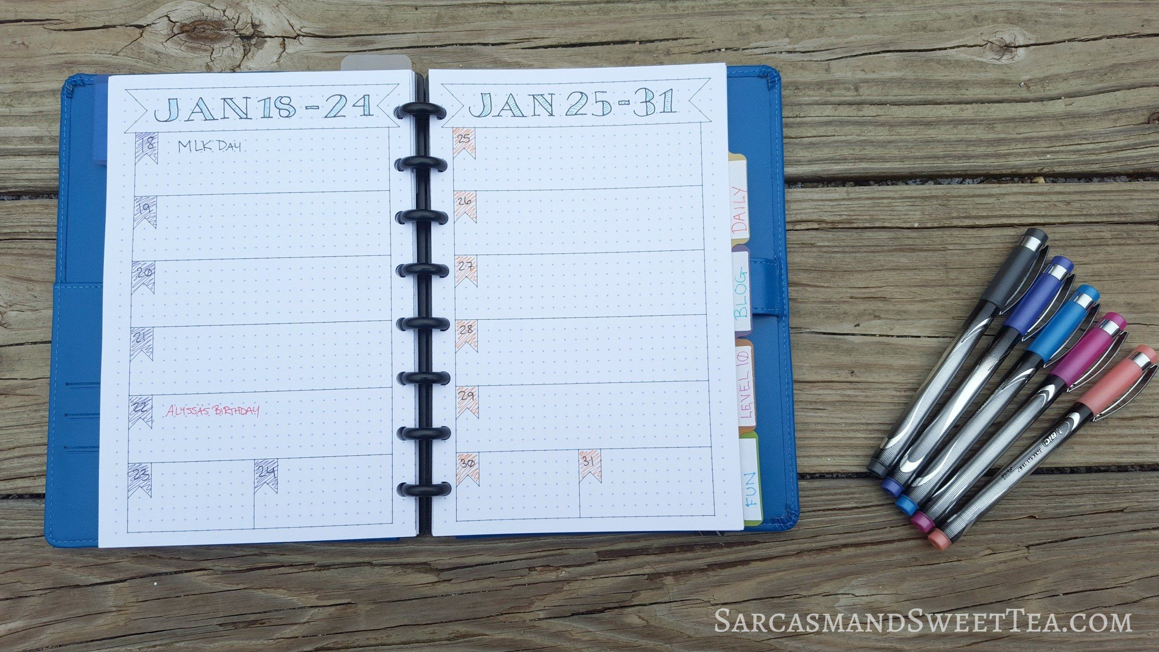 Bullet Journal Layout – How I Bullet Journal Using an Arc