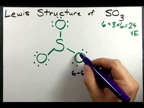 Lewis Structure Of So3 Sulfur Trioxide Exceptions To The Octet