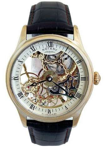 Men s Watches  Rotary Gents Mechanical Skeleton GS02520 03 ... 499dd77339a