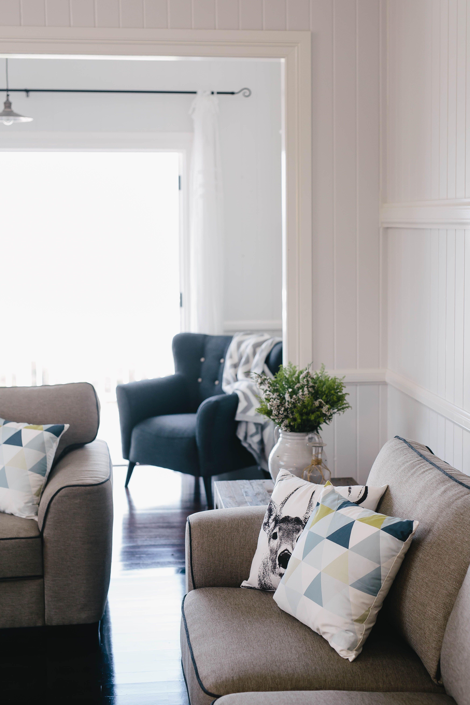 Freedom London modular sofa in Randolph Chestnut leather $3899