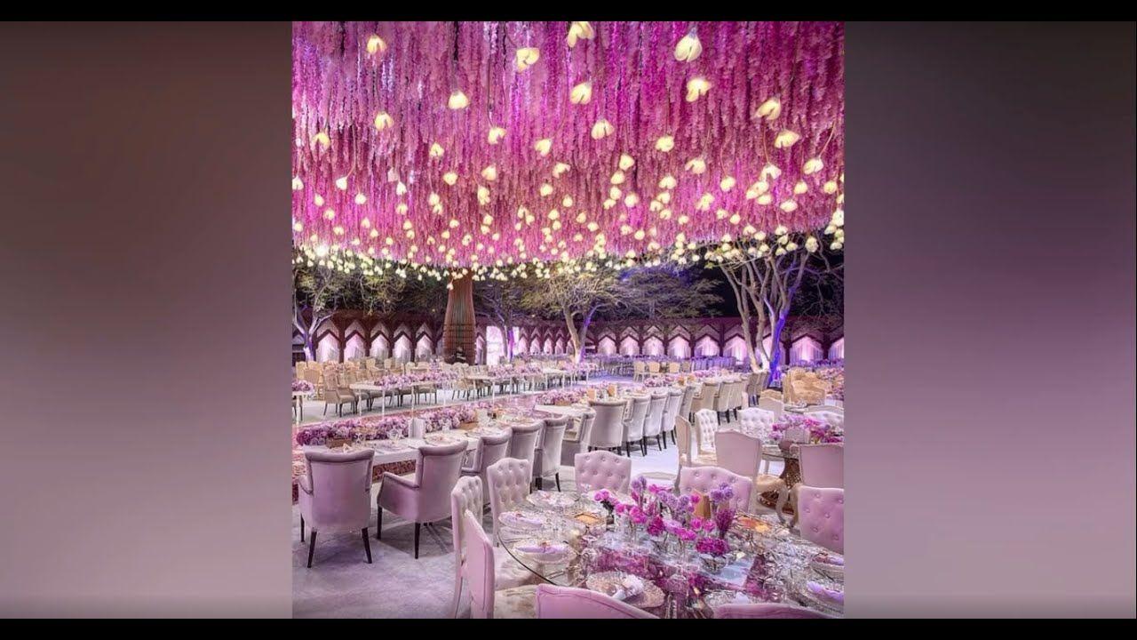 احدث وارقى ديكورات صالات الاعراس تصاميم خيالية فخمة The Most Luxurious Wedding Decorations Wedding Decorations Luxury Wedding Copyright Music