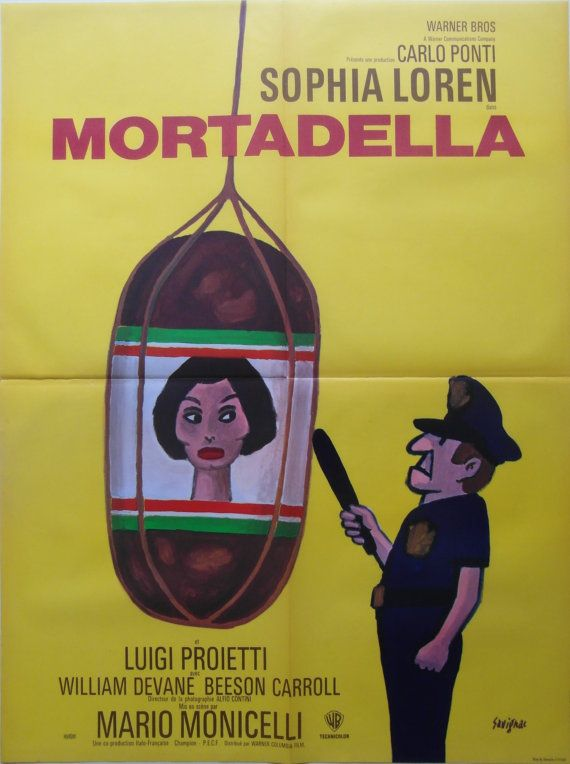 La mortadella Sophia Loren cult movie poster print