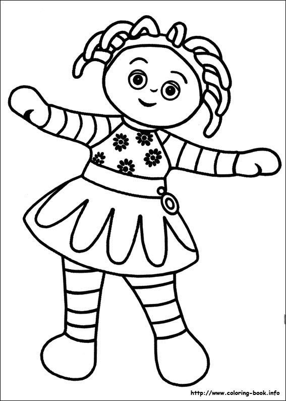 In the night garden coloring picture | In the night garden ...