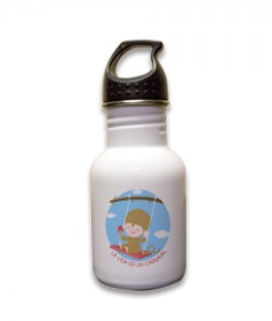 "Cute water bottle for your kids and it says ""La vida es un carnaval"" :)"