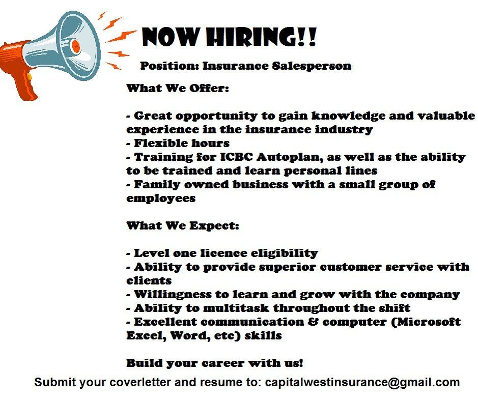 Looking For More Than Just A Job We Are Hiring Contact Us Today Email Us Your Cover Letter And Resume To Car Insurance Insurance Industry Travel Insurance