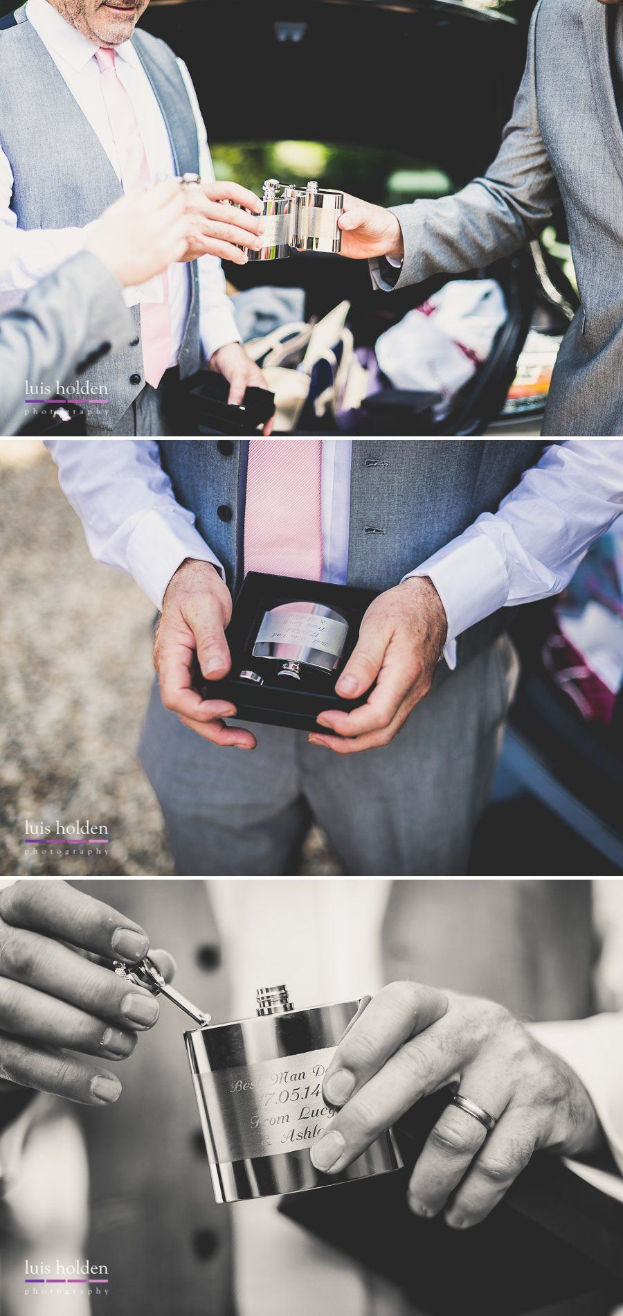 wedding hip-flasks (pre-filled!)