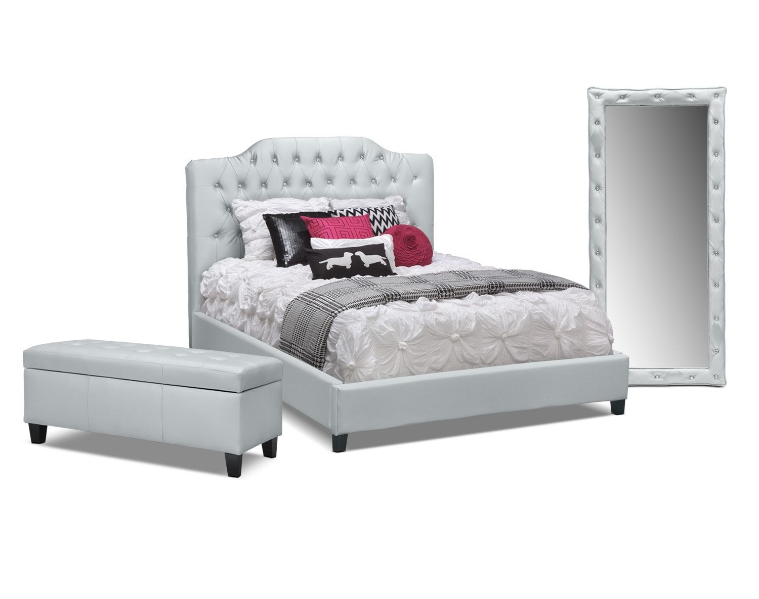 The Valerie Silver Bedroom Collection | Value City Furniture
