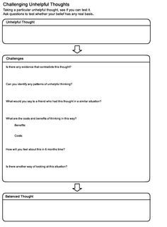Cbt Worksheet Therapy Counseling Therapy Worksheets Cbt Therapy