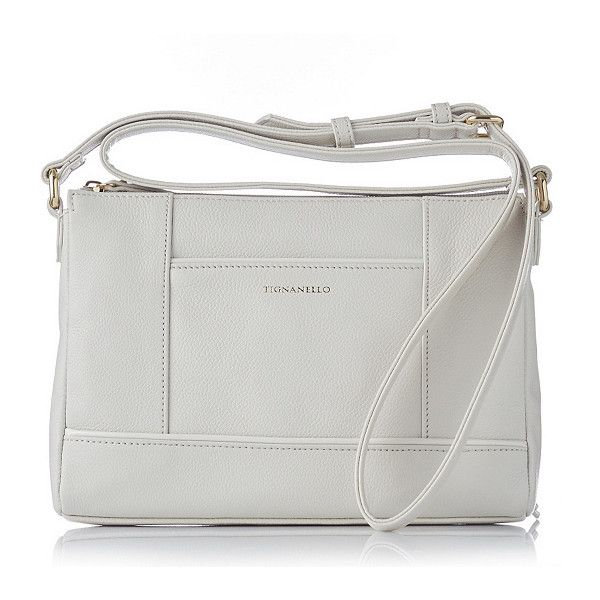 Tignanello Pebble Leather Zip Top Crossbody Bag With Rfid Protection 75 Liked On