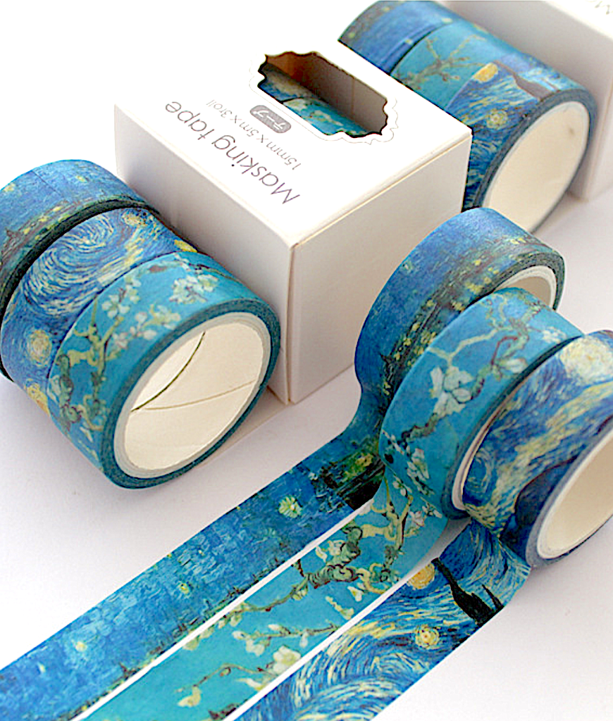 Van Gogh/'s Color Washi Sticker Decor Roll Paper Masking Adhesive Tape Funny