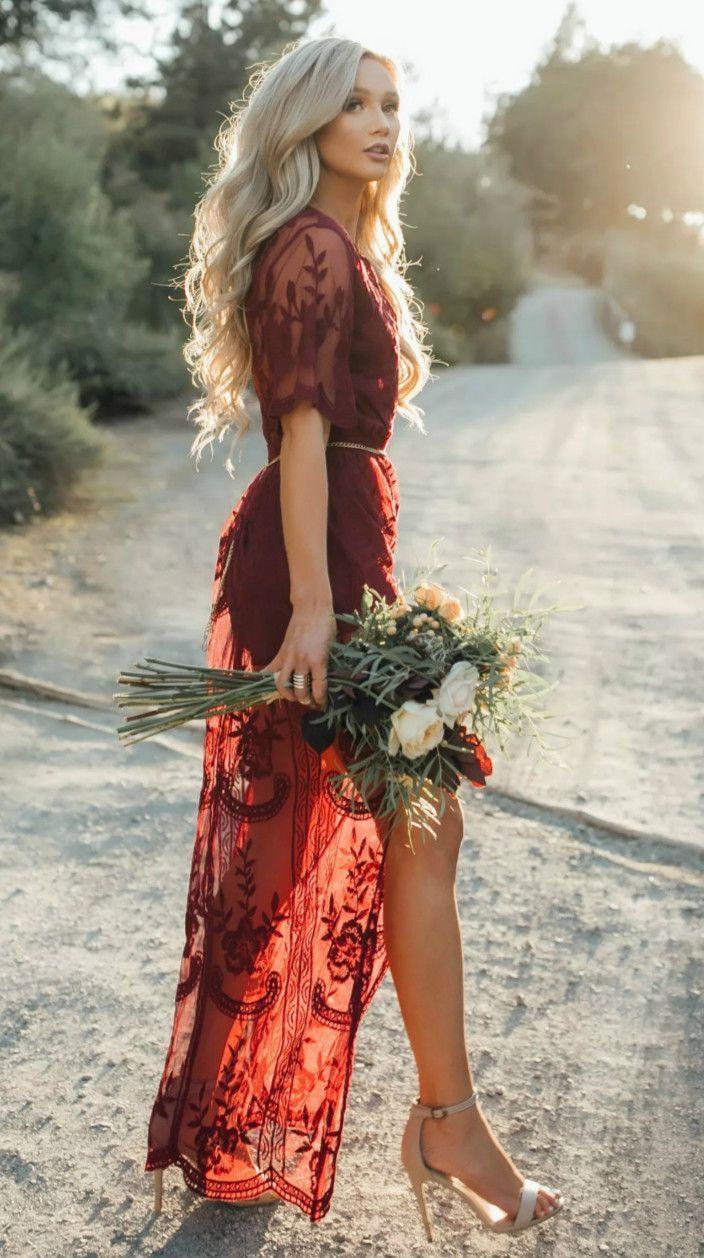 Deep v neck short sleeve high waist lace prom dress pinterest