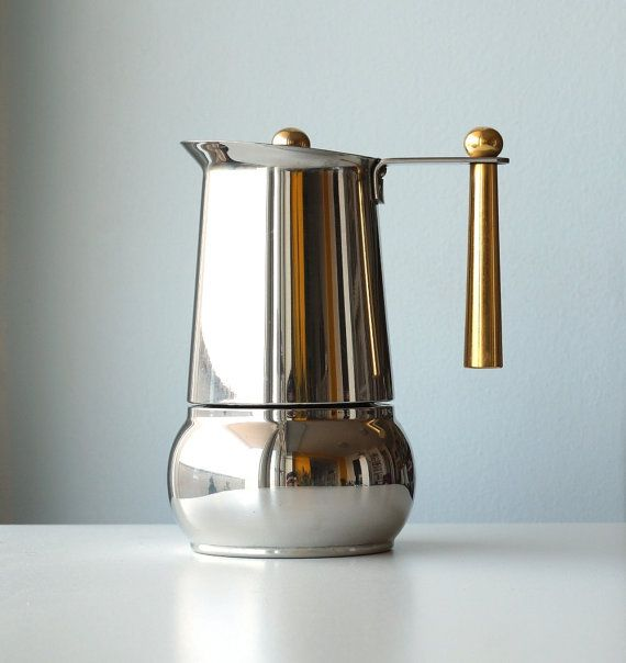 Vintage Stainless Steel Stovetop Espresso Maker Italian