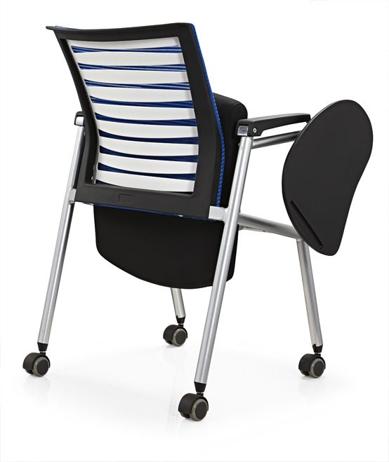 conference folding chair with writing table plastic office chair