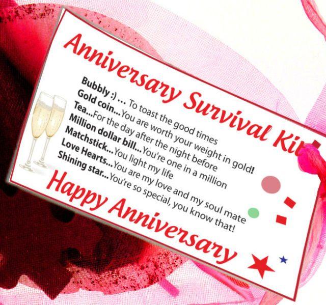Unique Novelty Survival Kit: Details About Anniversary Gift Survival Kit Card Novelty