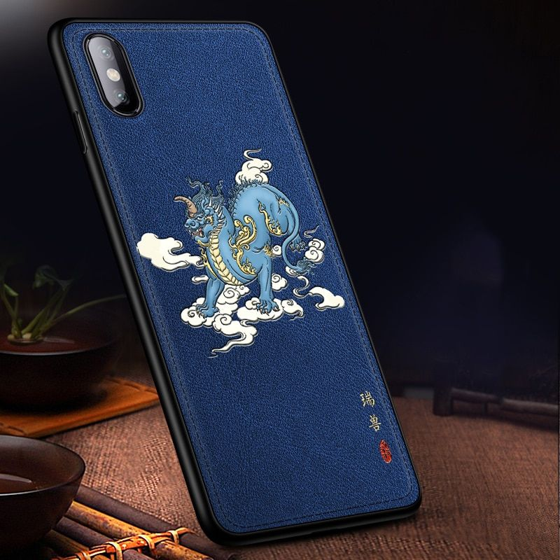 iPhone XR Plus case iPhone 8 Plus Case Samsung Galaxy S10 phone case Black Leather Phone Case with Octopus Print: iPhone 11 Pro Max case