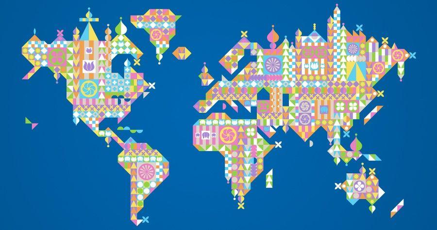 Its a small world map t shirt design entrant mary blair pinterest its a small world map t shirt design entrant gumiabroncs Images