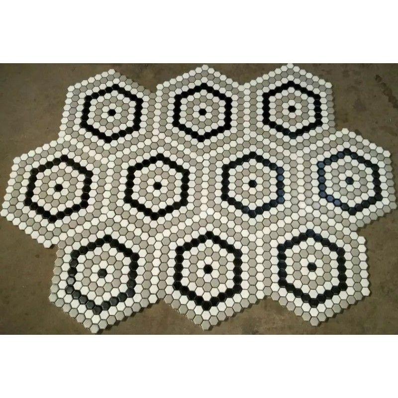 Hexagon Ceramic Floor Tiles For Cheap 1 Glaze Procelain Kitchen