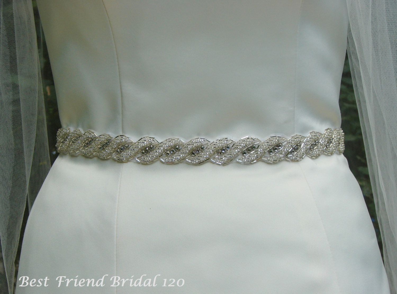 Pearl belt for wedding dress  Bridal Belt Rhinestone Belt Wedding Sash Thin CrystalRhinestone