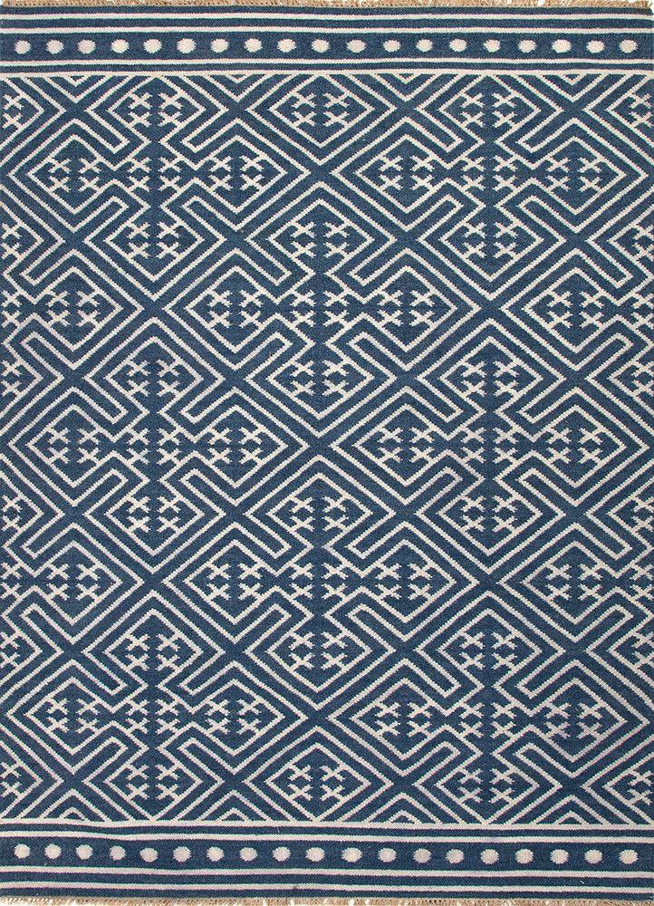 Indigo Batik Rug Wool Area Rugs White Rug Rugs