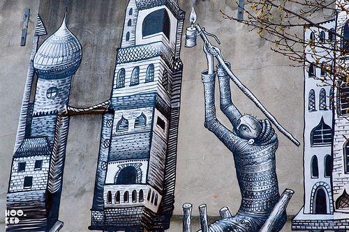 Awesome Phlegm Mural in #London #urbanart