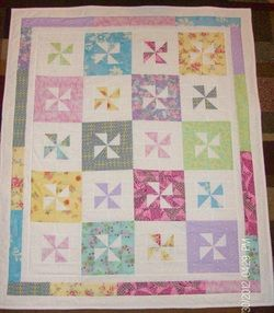 Reverse Pinwheel Baby Quilt sold.   BABYQUILTS 4   Pinterest ... : baby pinwheel quilt - Adamdwight.com